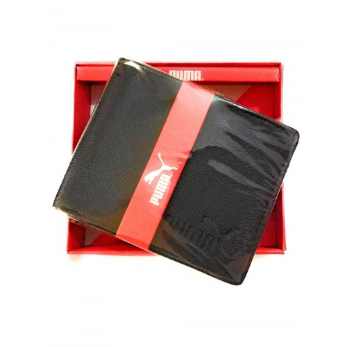 Puma Black Bifold Leather Replica Wallet For Men and Boy