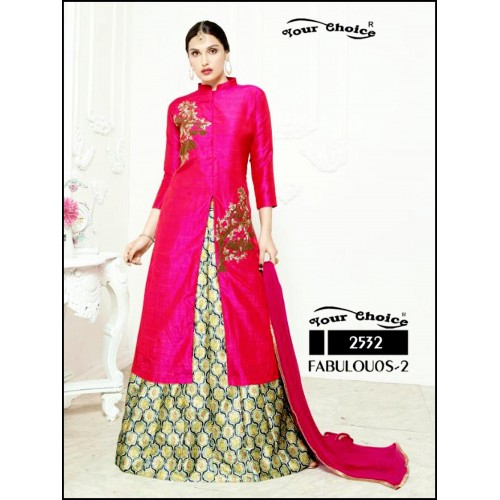 Briaght Magenta Designer Wedding Wear Lehenga Choli