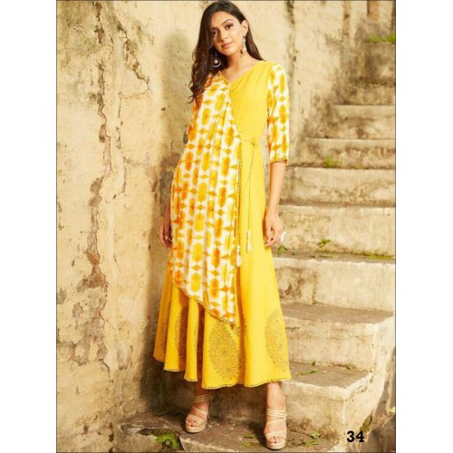 Yellow Designer Stylish Gown
