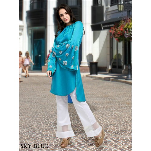 Sky Blue Designer Tunic with Pants