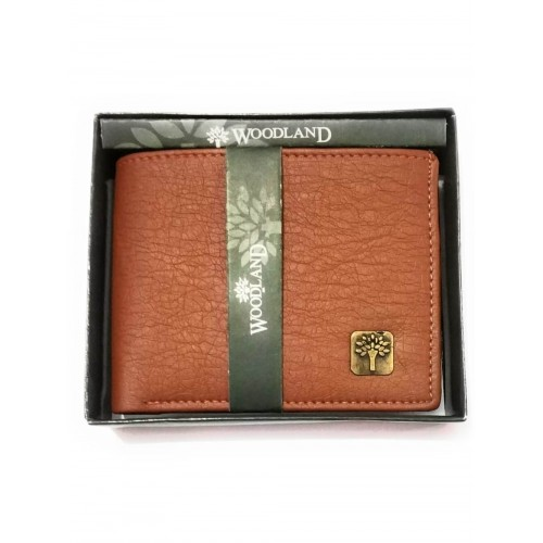 Woodland Tan Bifold PU Leather Wallets For Men and Boy